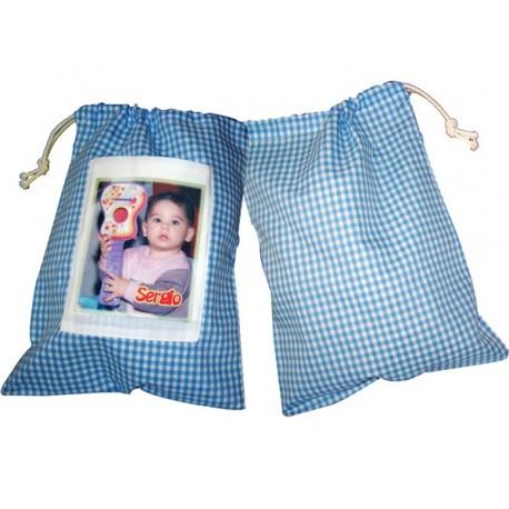 Bolsa de merienda de guarderia personalizada con fotos