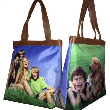 bolso piel natural personalizado con fotos Leticia