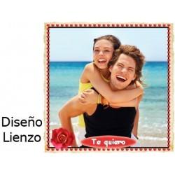 Cojín Enamorados Lienzo