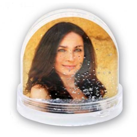 Bola de purpurina personalizada con fotos