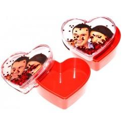 Caja de forma de corazon personalizada con fotos