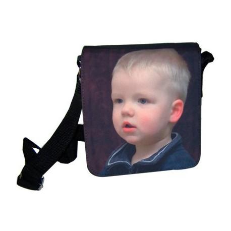 Bolso negro pequeño personalizado con fotos
