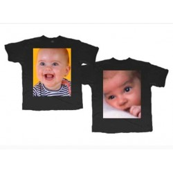 Camiseta colores doble cara personalizada con fotos