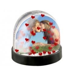Bola de corazones personalizada con fotos