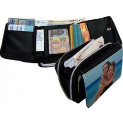Monedero textil personalizado con fotos